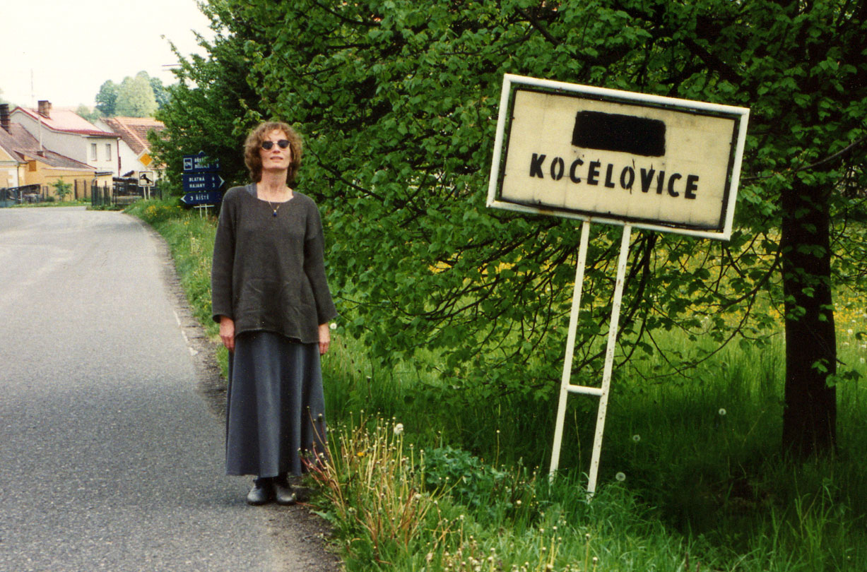 "1995, in Kocelovice, Czech Republic: the roots of  hudba  (""music"" in Czech). Birthplace of my great-grandfather Václav Bláha.  (Photo: Helene Hinte)"