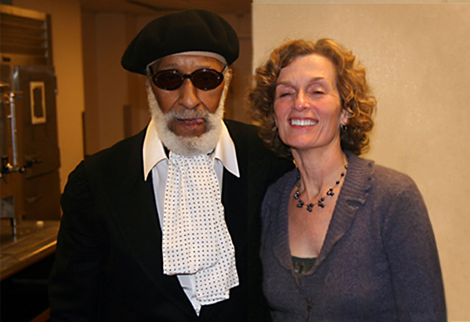 2006, at IAJE, New York, with Sonny Rollins—a great artist, a generous friend, a pleasure to work with and to know.  (Photo: Clifton Anderson)