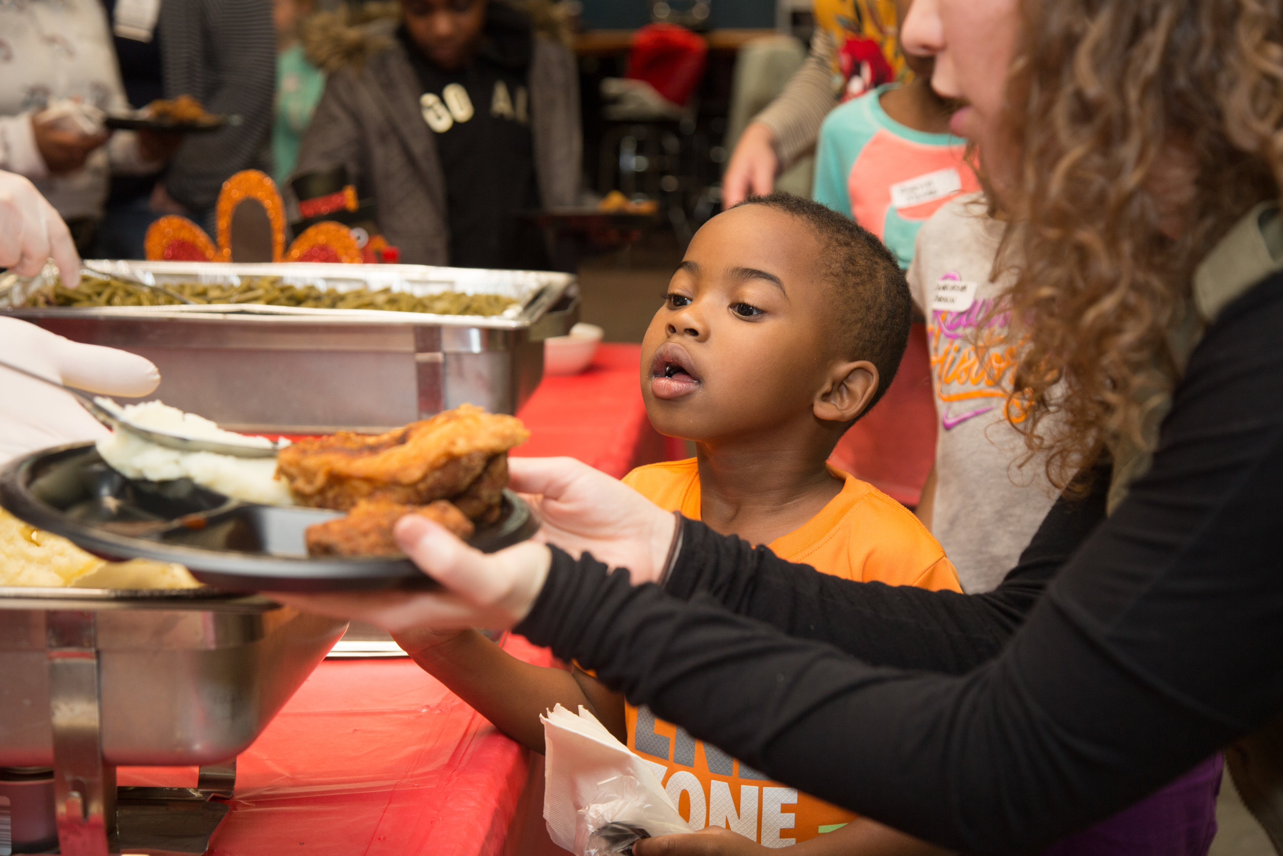 Thanksgiving - Every year The Love Fund partners with the Kansas City Chiefs and the Chiefs Ambassadors to celebrate Thanksgiving with 60+ youth who face homelessness, abandonment and abuse in their lives. The Love Fund provides children an evening of food and fun where kids can just be kids.