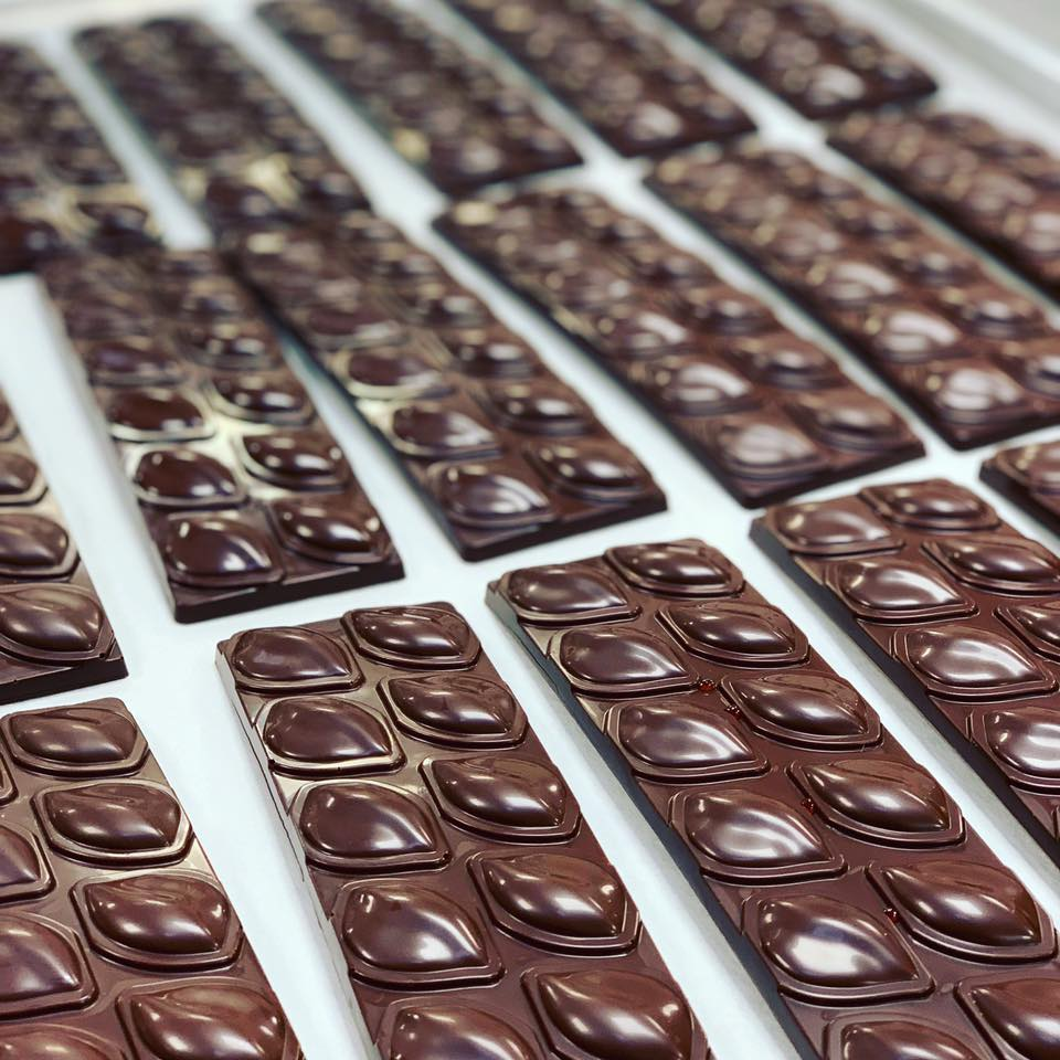 Amour Spreads and Cafe uses our Madagascar chocolate for their seasonal jam ganache bars and gelato.