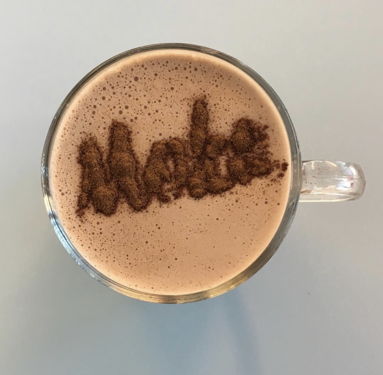 Euro Style Hot Chocolate is available at Moka; made extra thick using our drinking chocolate.