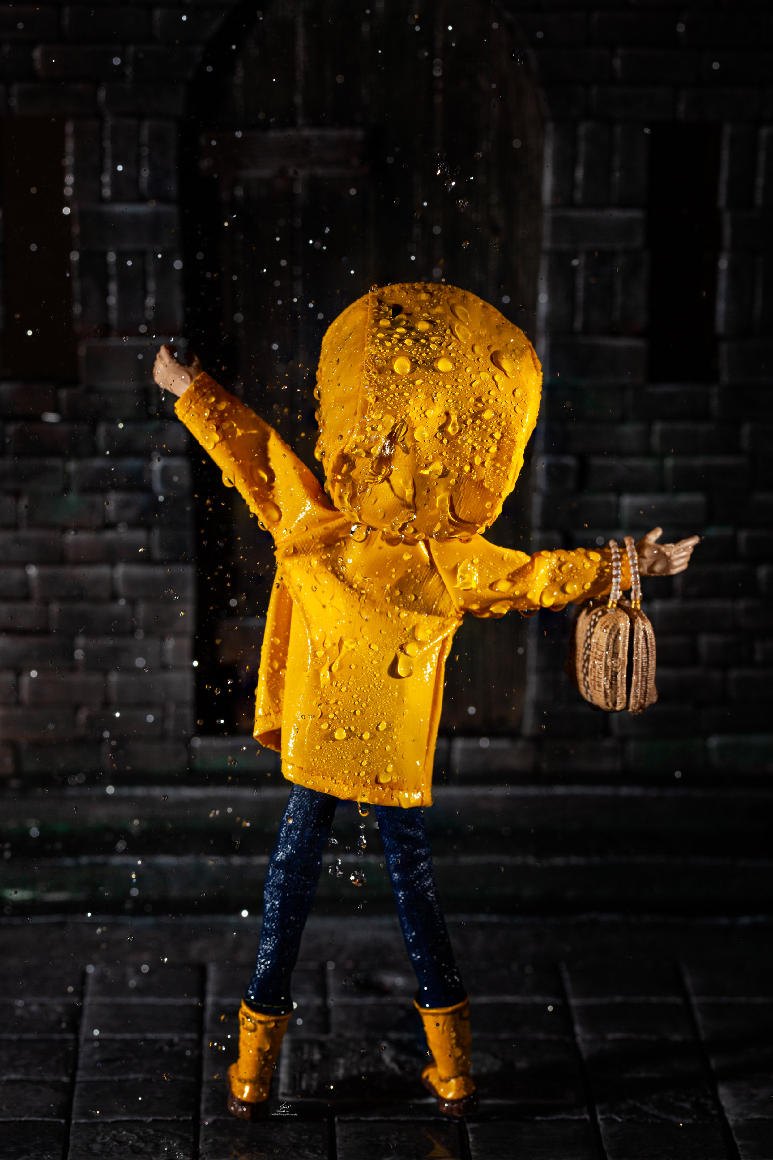 Coraline In Her Rain Coat Insightful Imagery
