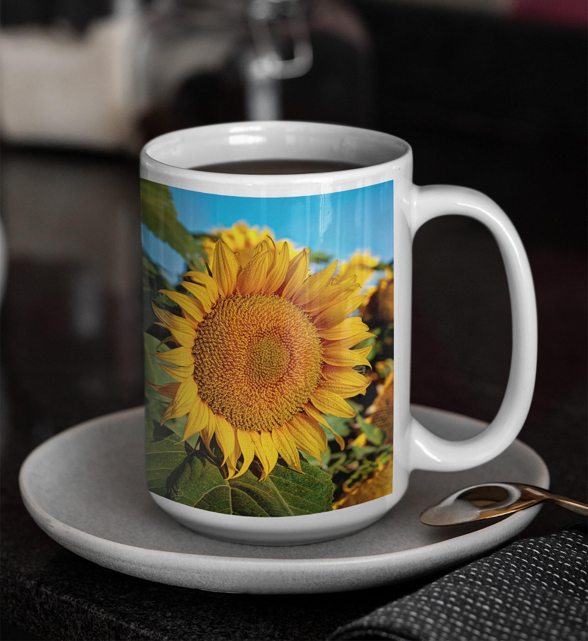 Personalized Sunflower Mug Sunflower Coffee Cup Personalized Mugs Personalized