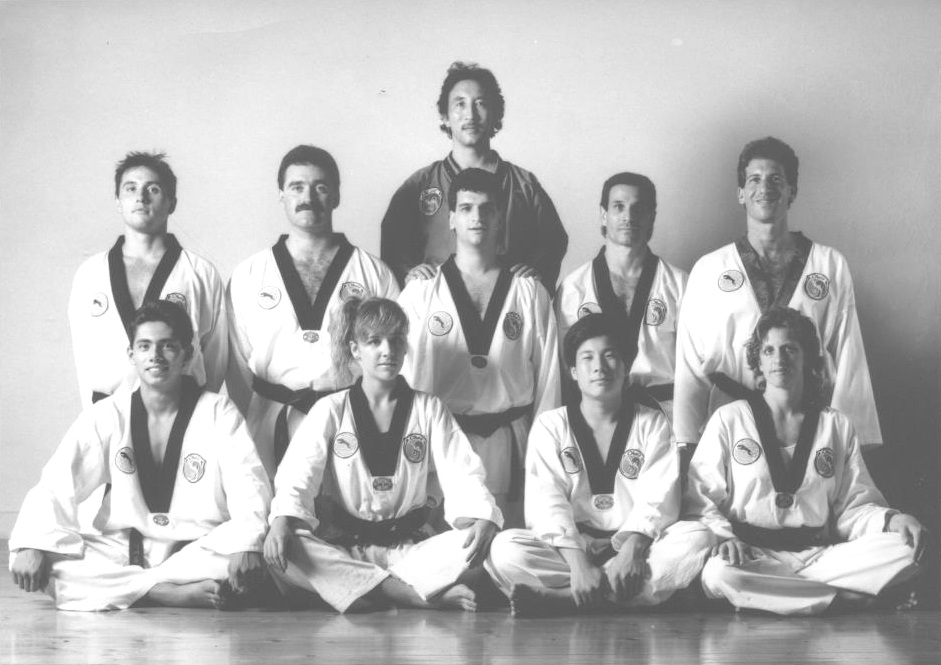 Grandmaster Cho with some of his Black Belts in the 1990s.