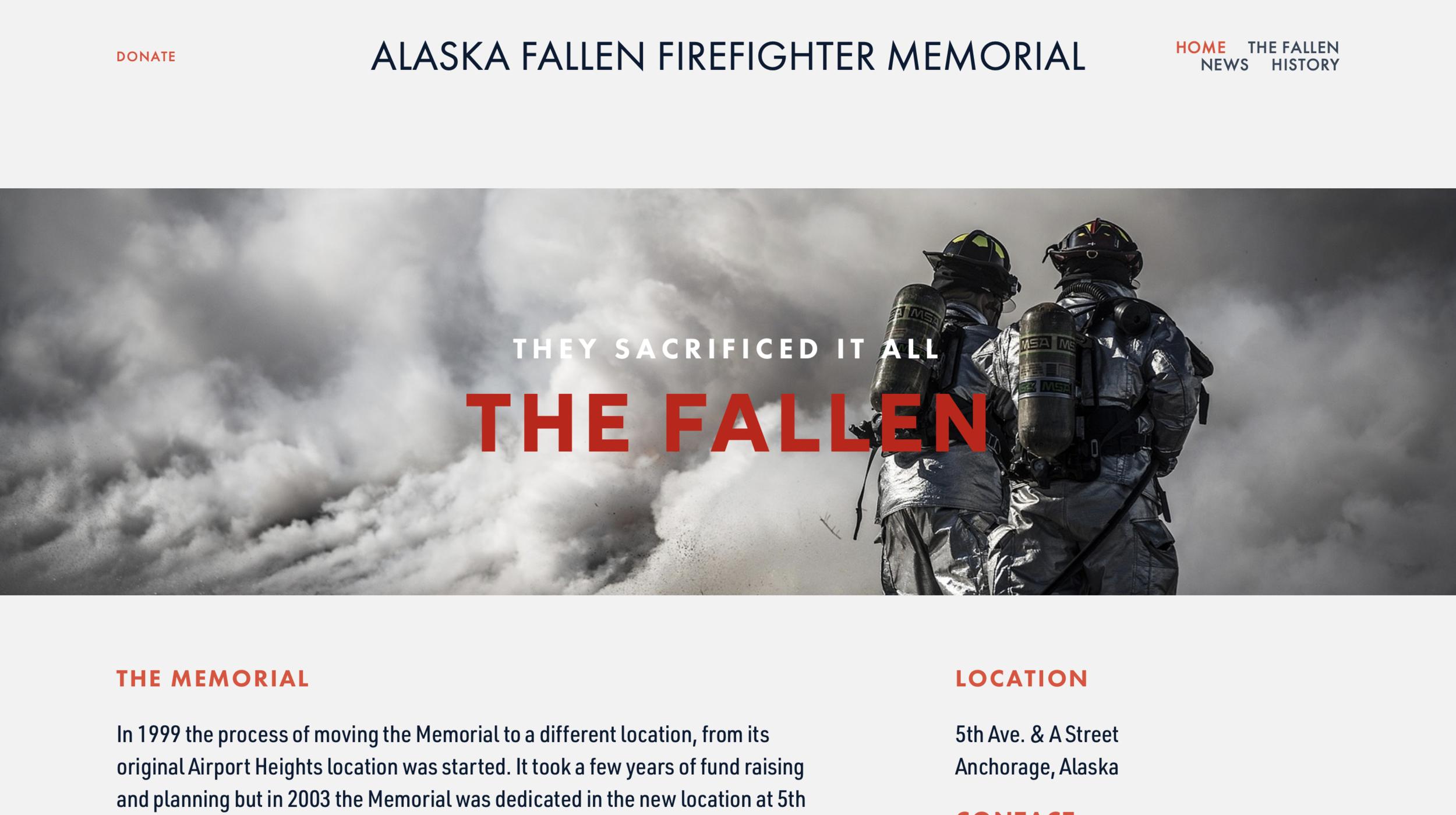 ALASKA FIREFIGHTER MEMORIAL, ANCHORAGE