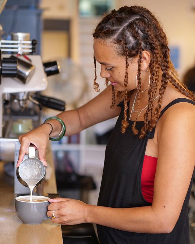 We are excited to welcome our awesome new barista Layemi! Guaranteed to whip you up a damn good coffee with a smile ☕️