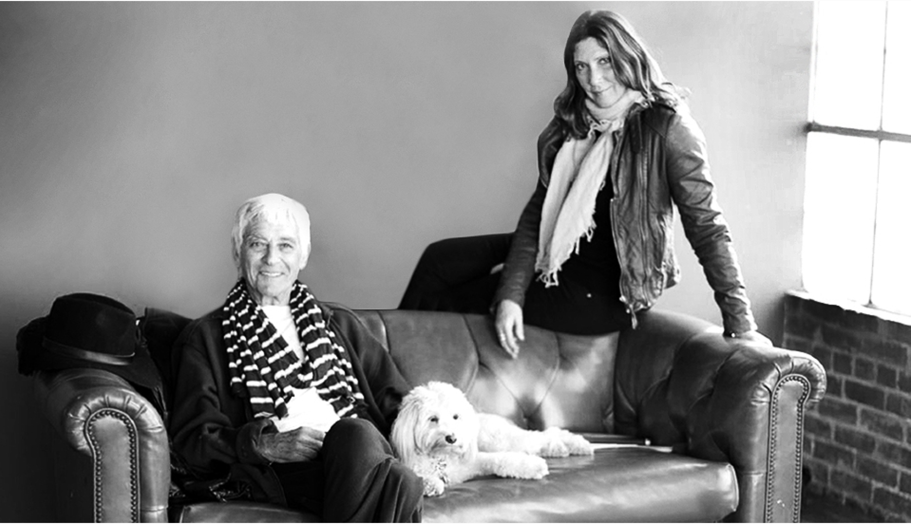 Suzanne Lerner with Michael Stars and dog, Simba