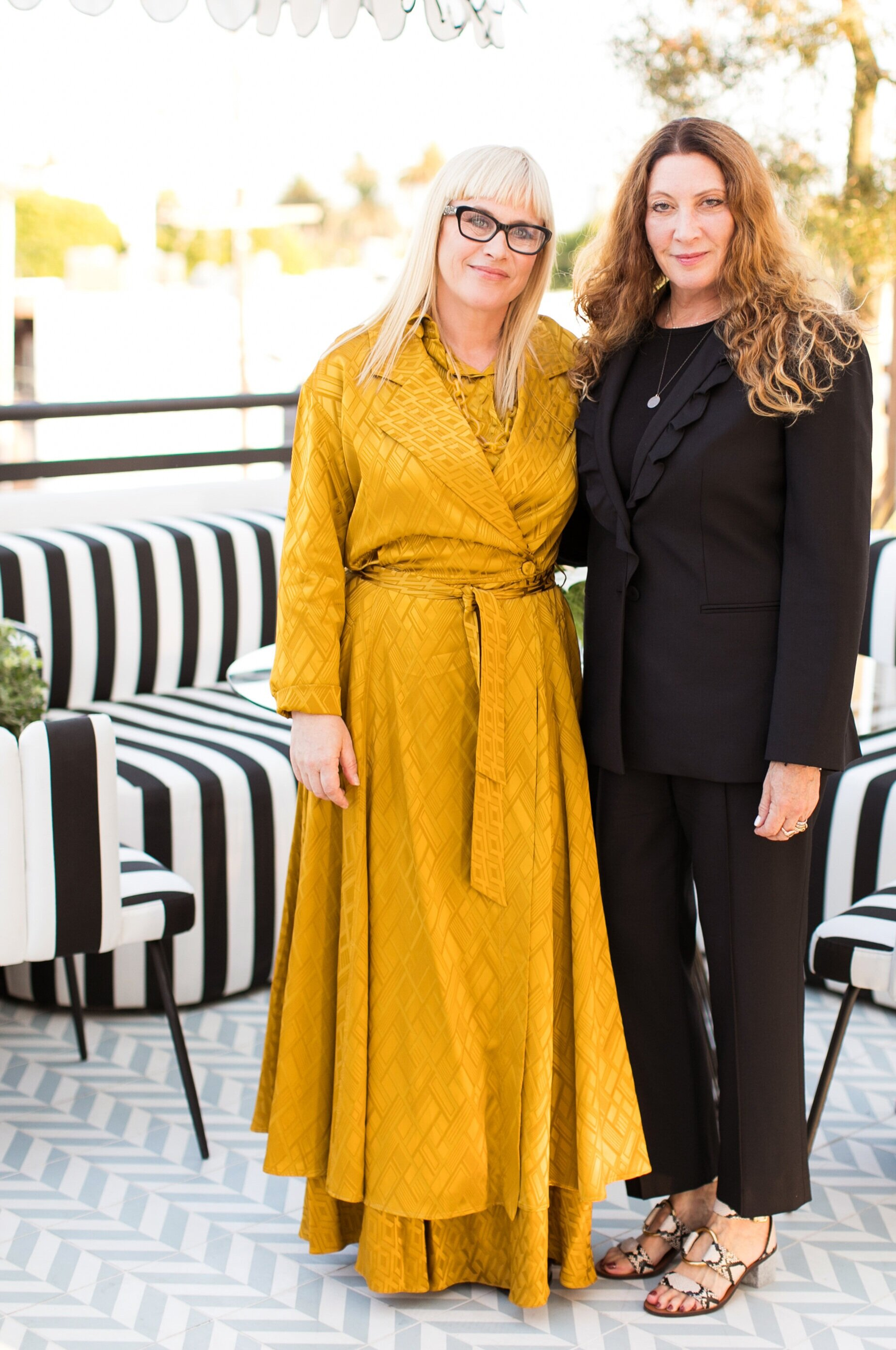 Patricia Arquette and Suzanne Lerner at the AllBright Collective in West Hollywood.  Photo credit: Marissa Maharaj