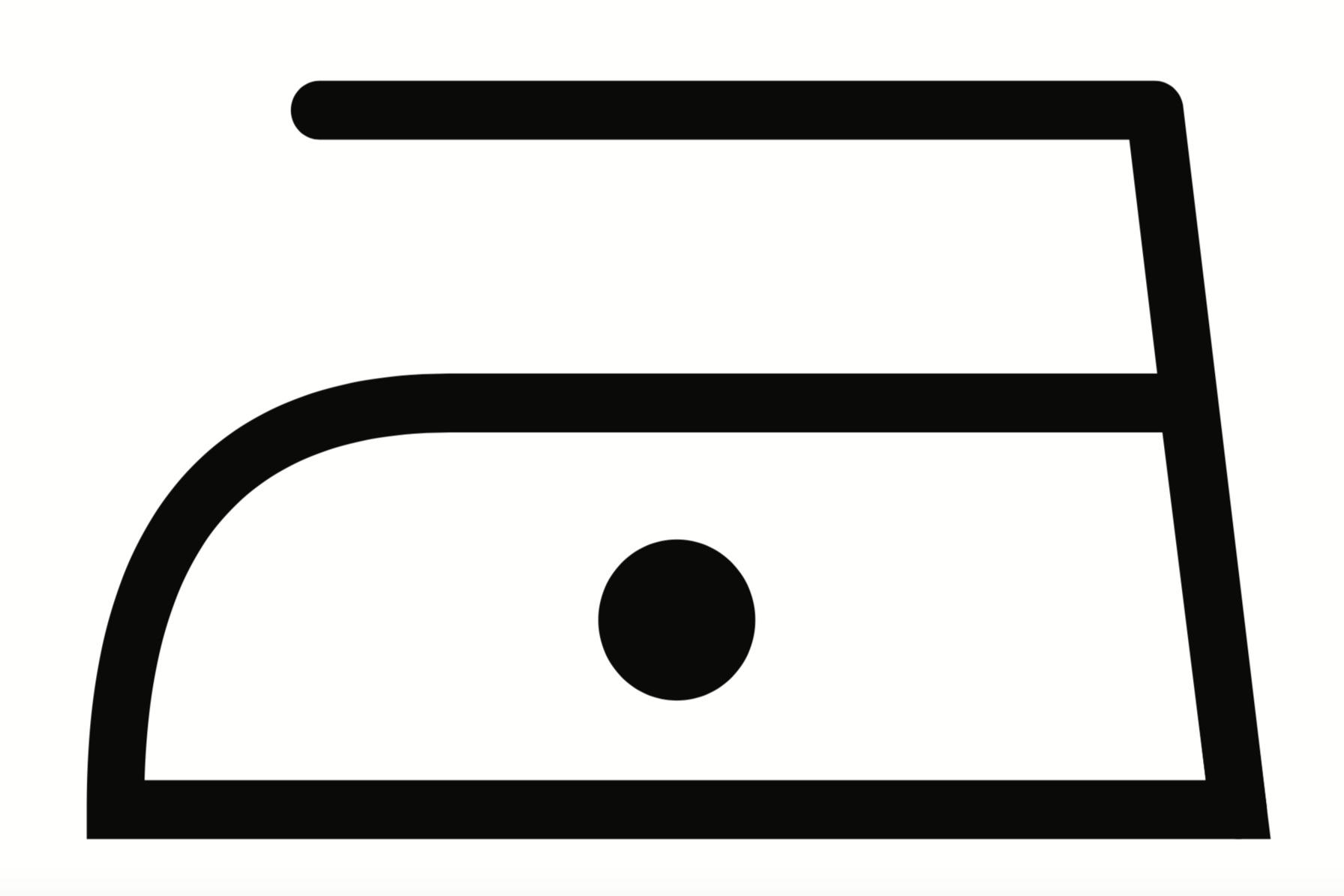Iron on Low Heat - 110 Degrees - Ved presning bruges gerne masser af damp! Hvis ulden er blandet med akryl, må du ikke bruge højere grader endenne prik står for (110 grader).