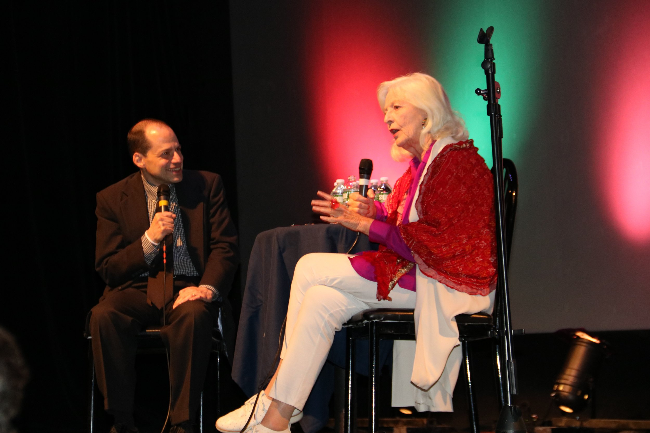 John Dileo interviewing jane alexander at the 2018 festival -