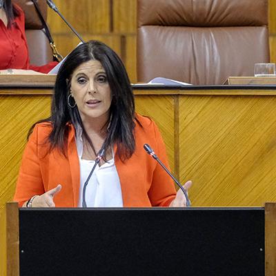 Ángeles Ferriz. Portavoz del PSOE en el Parlamento Andaluz