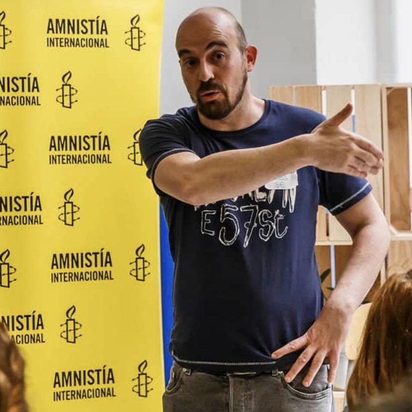 Carlos Sanguino. Amnistía Internacional.