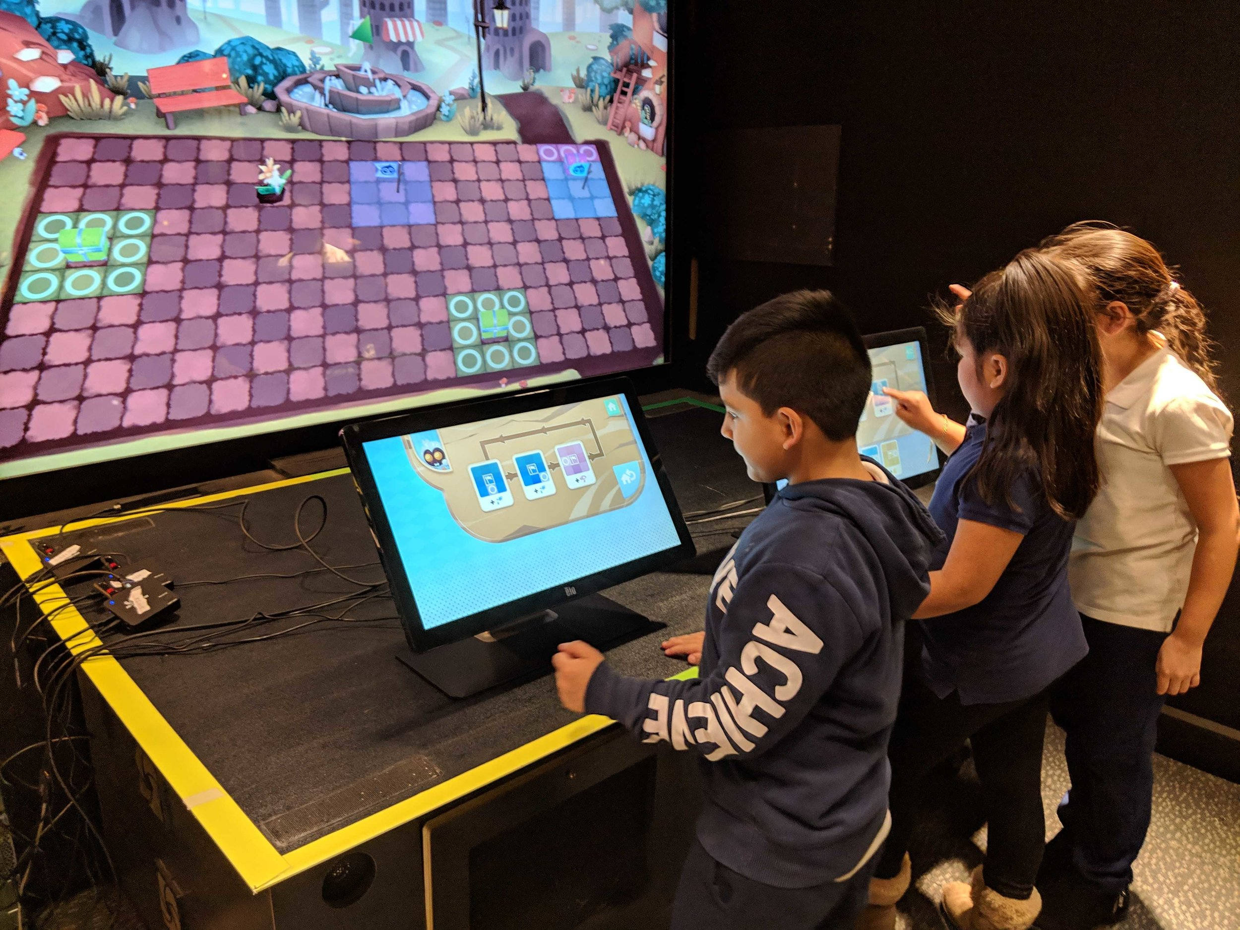 The game is currently exhibited at the New York Hall of Science and the Lawrence Hall of Science, where it is used to conduct research about promoting equity in computer science.