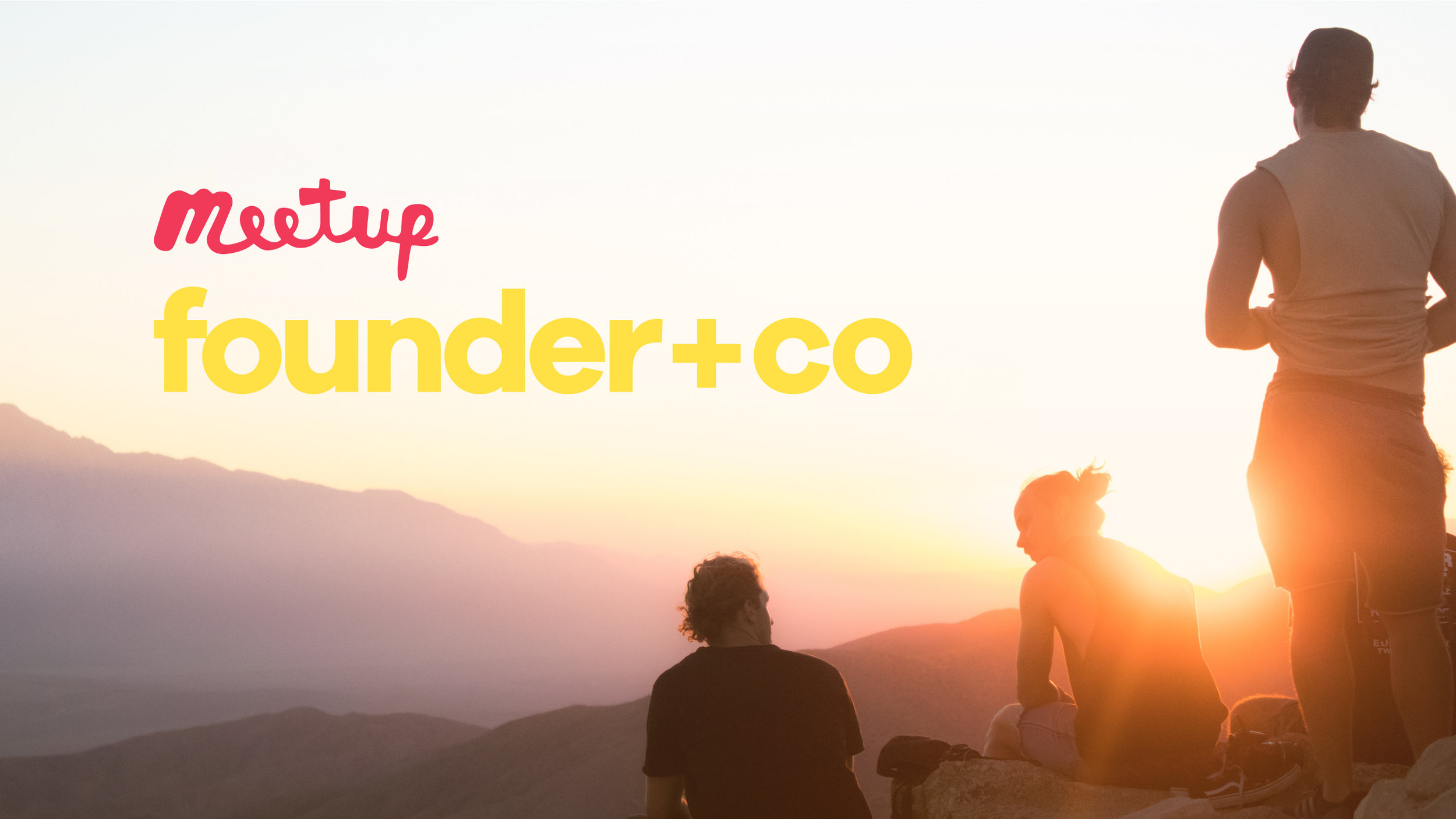 Better Together. - We're a growing community of founders, investors, talent and curious visionaries, all with the goal to make the world better. Check us out on Meetup to interact with our community, join the cause and help us change the world!
