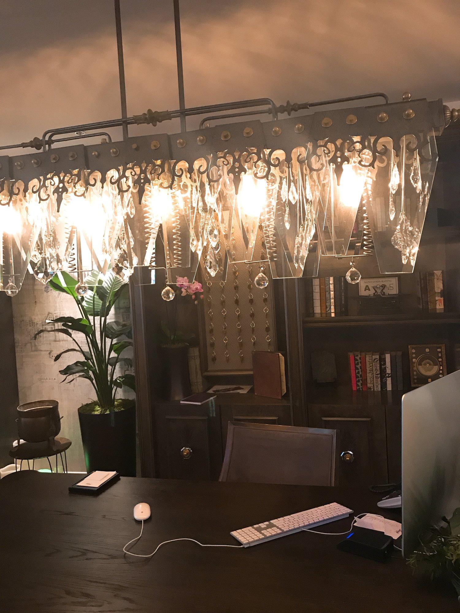 Front desk lighting
