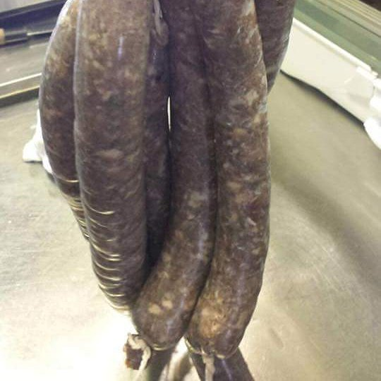 Game salamis hanging ready for Christmas, yes were making our own charcuterie #weobley #food #hereford #xmas