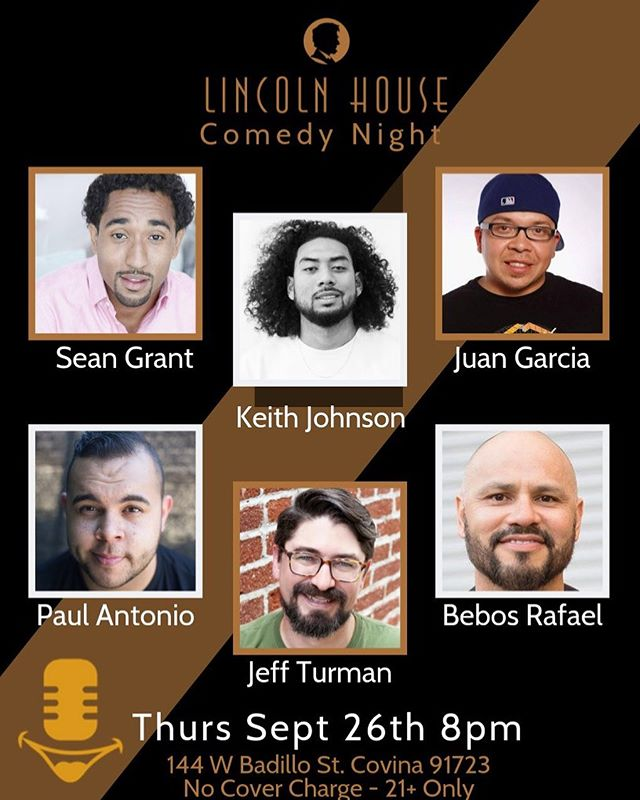Tonight's line up is sick!  Enjoy Covina. Don't miss out. 8pm . #comedy #lincolnhousecomedyclub #covinaspeakeasy #craftcocktails #craftbeer #livemusicvenue #downtowncovina