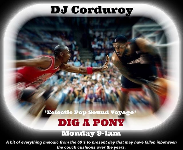 Tonight! I'll be spinning the vinyl at Dig A Pony. Extend the weekend and kick back a few. Begins at 9. #djcorduroy #pdx