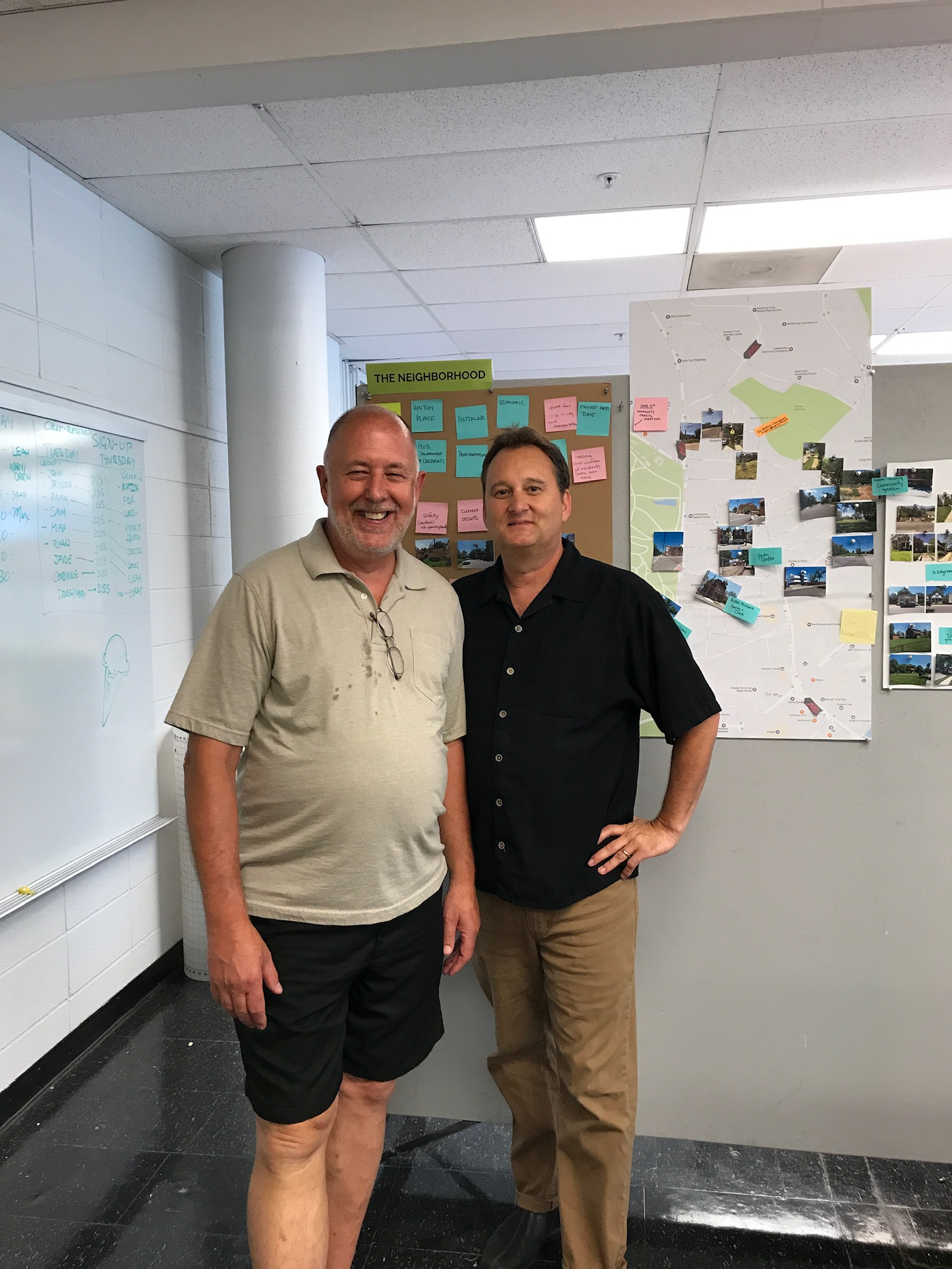 Gary Robbins, SGV Council President & Steve Doehler, Professor of Industrial Design at University of Cincinnati.