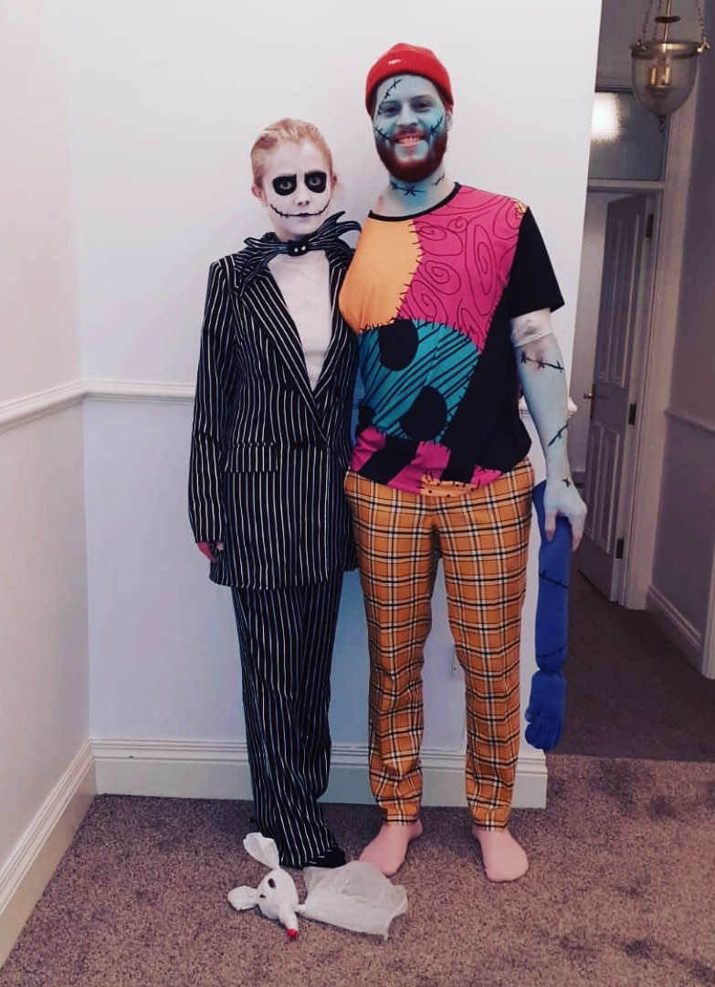 Scott and Becky at Halloween