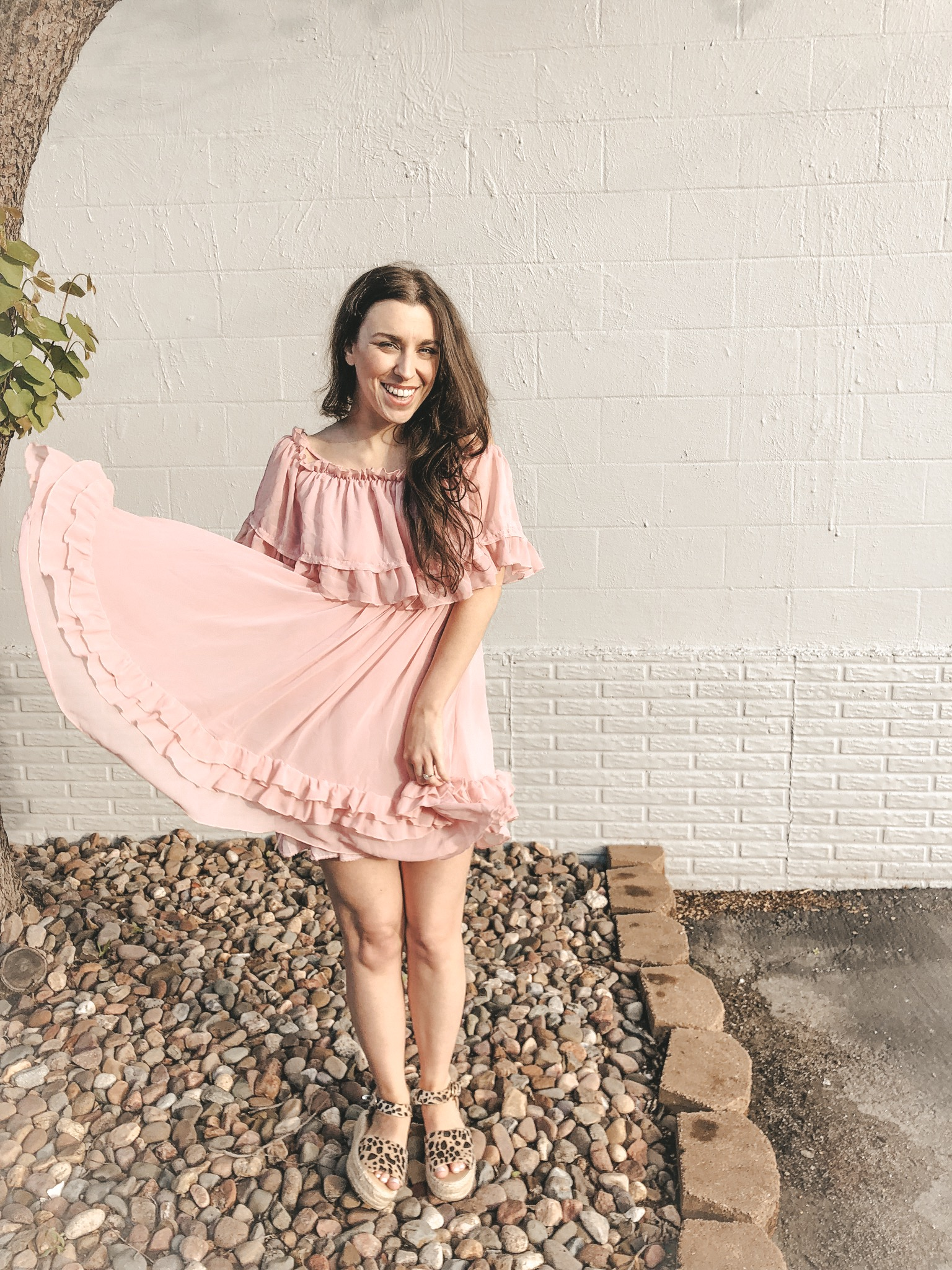 amazon-fashion-spring-dress-haul-pink-ruffle-dress