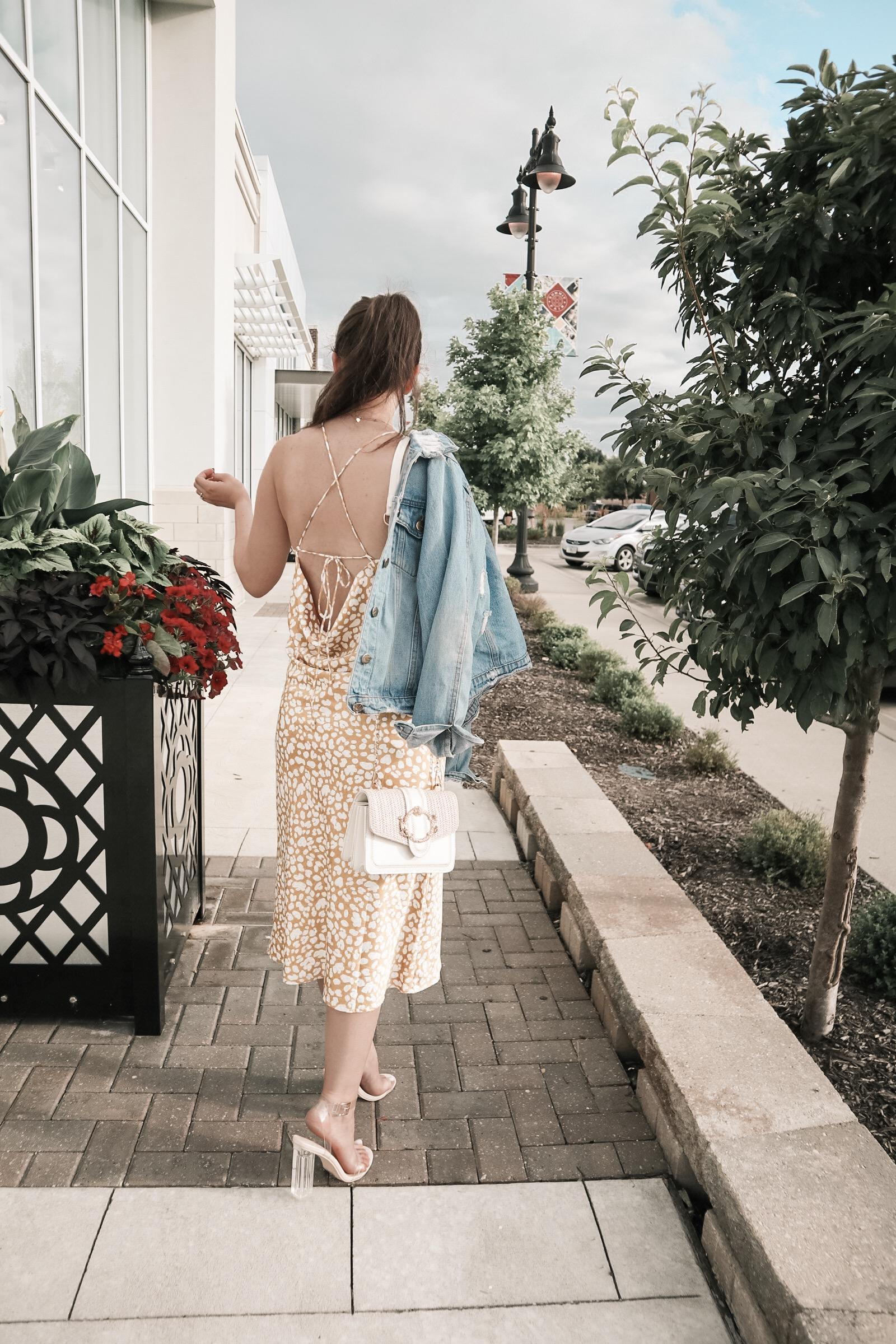 Leopard Midi Slip Dress