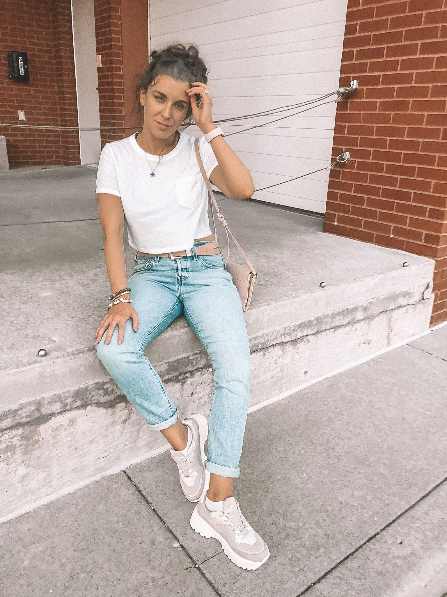 Chunky Neutral Sneakers | Dad Shoe Trend