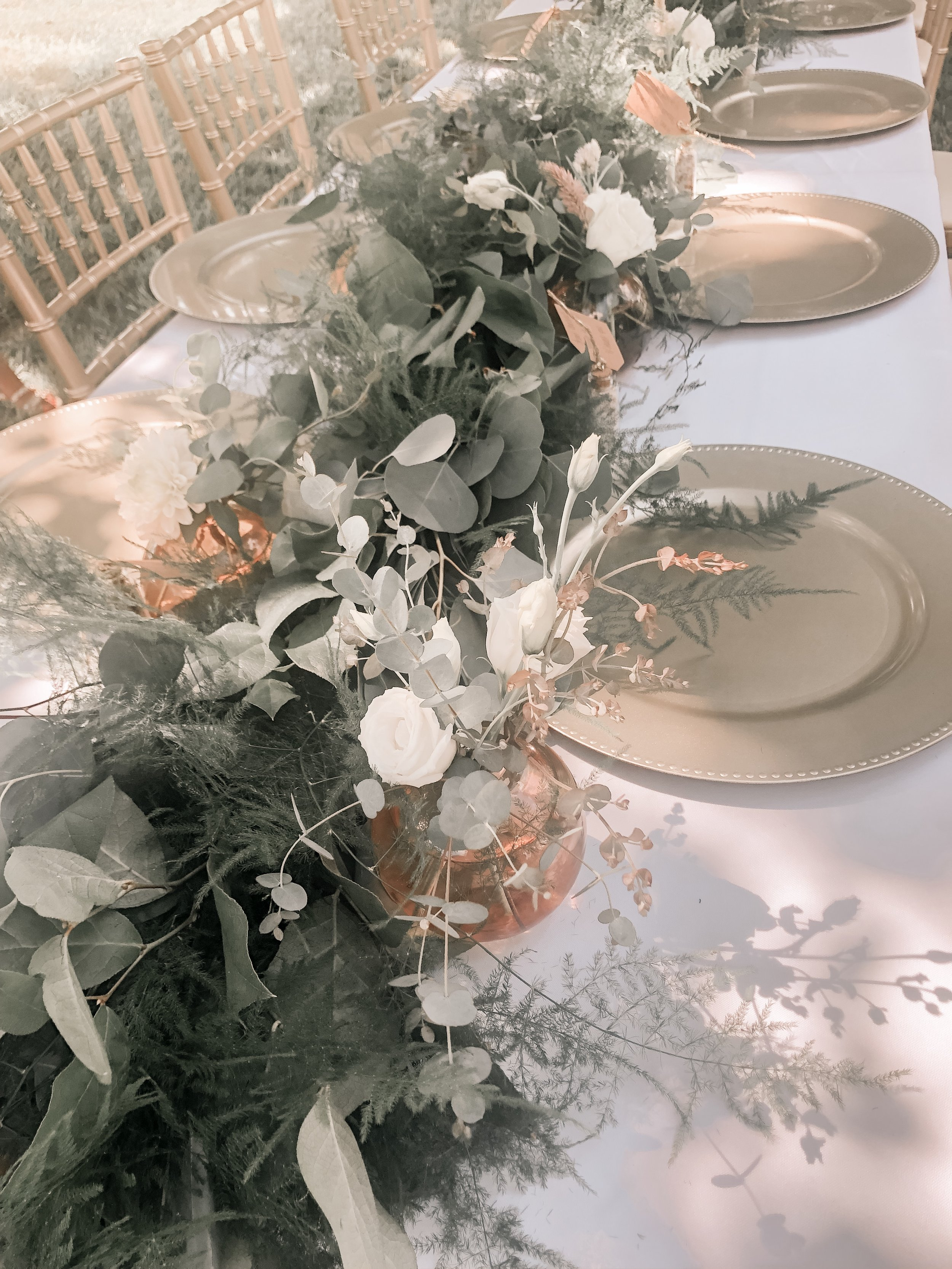 Garden Party Bridal Shower Table Setting