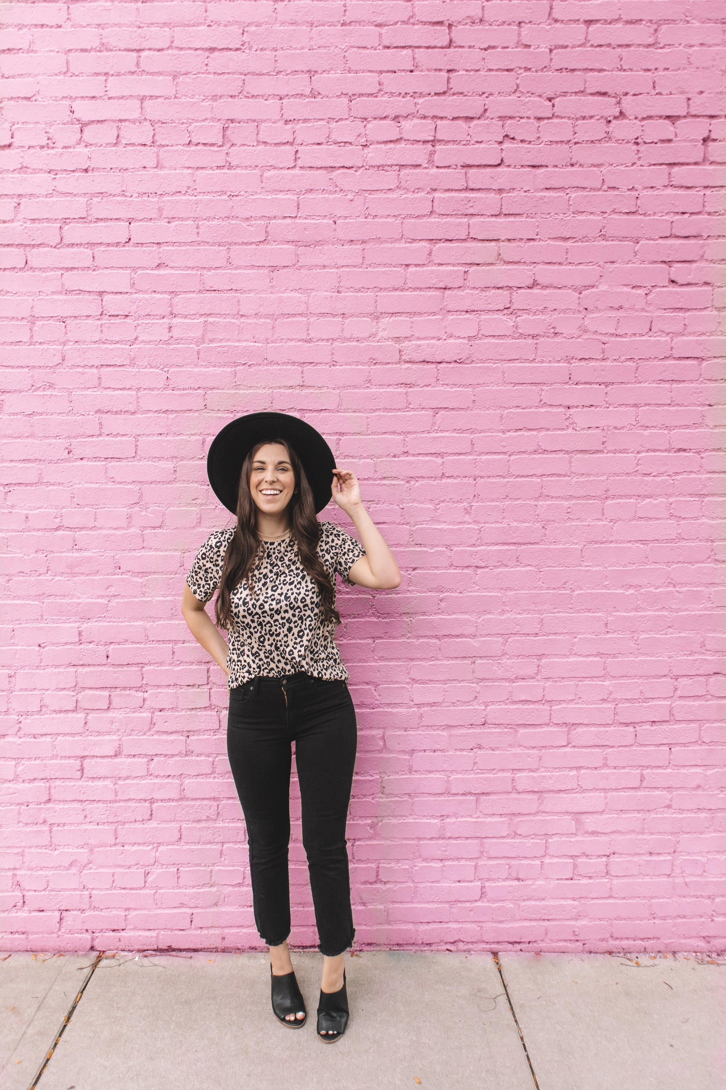 Amazon Fall Fashion Try-On Haul Leopard T-Shirt