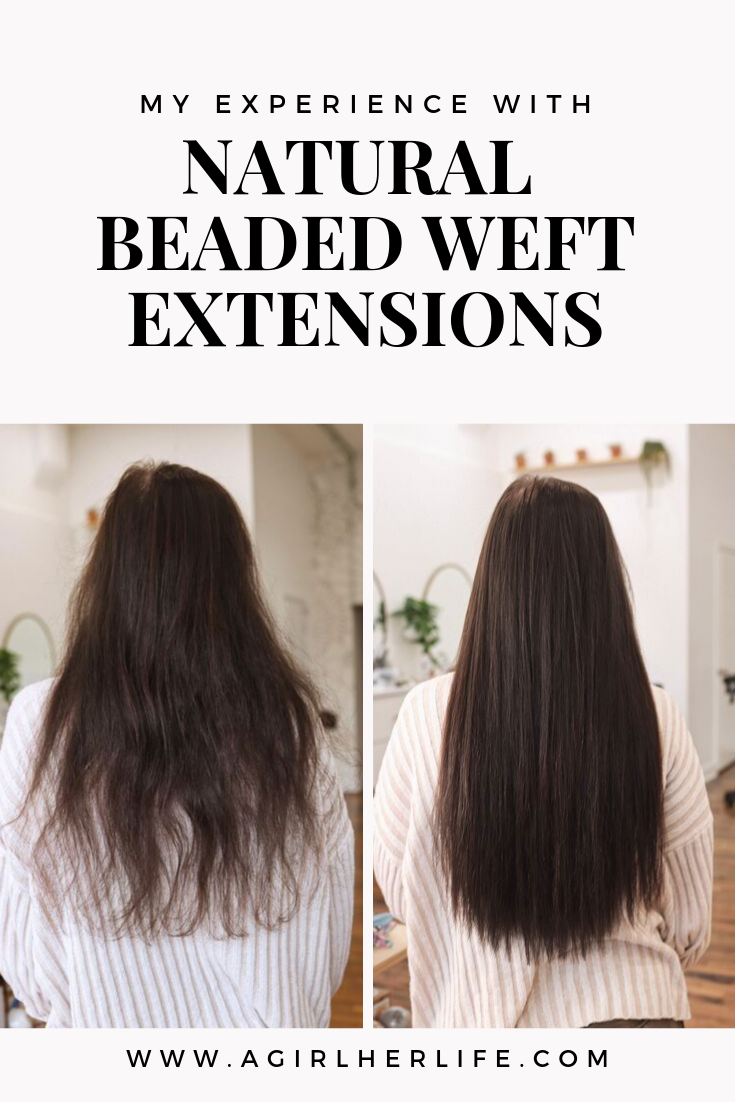 Natural Beaded Weft Extensions