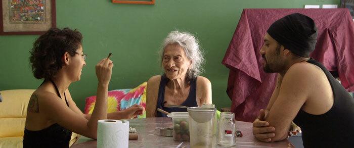 Erick Stoll & Chase Whiteside,  América , 2018, video still with Cristina Hernández Martínez, América Capdevielle Levas, and Rodrigo Alvarez Serrano. Courtesy of the filmmakers.