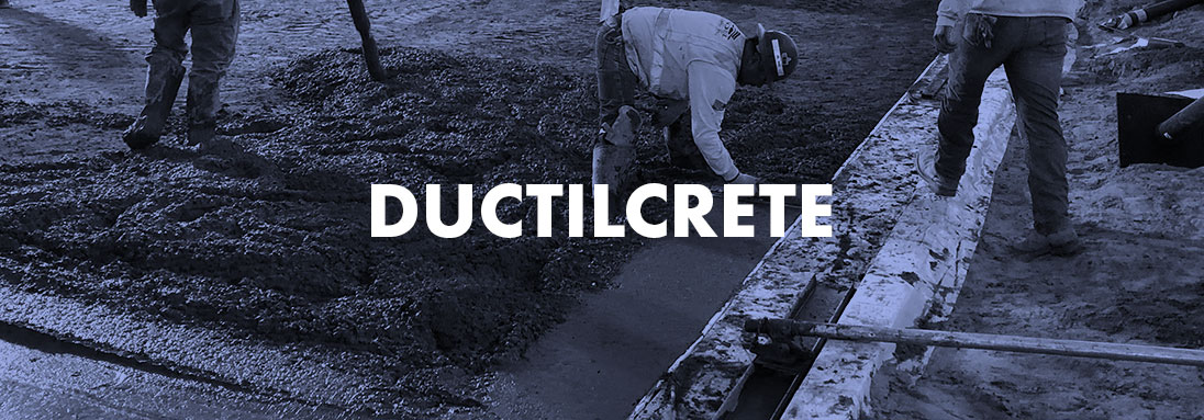 REDUCED CURL, INCREASED JOINT SPACING, ENGINEERED SLABS-ON-GROUND. SEE OUR DUCTILCRETE PAGE FOR MORE INFORMATION.