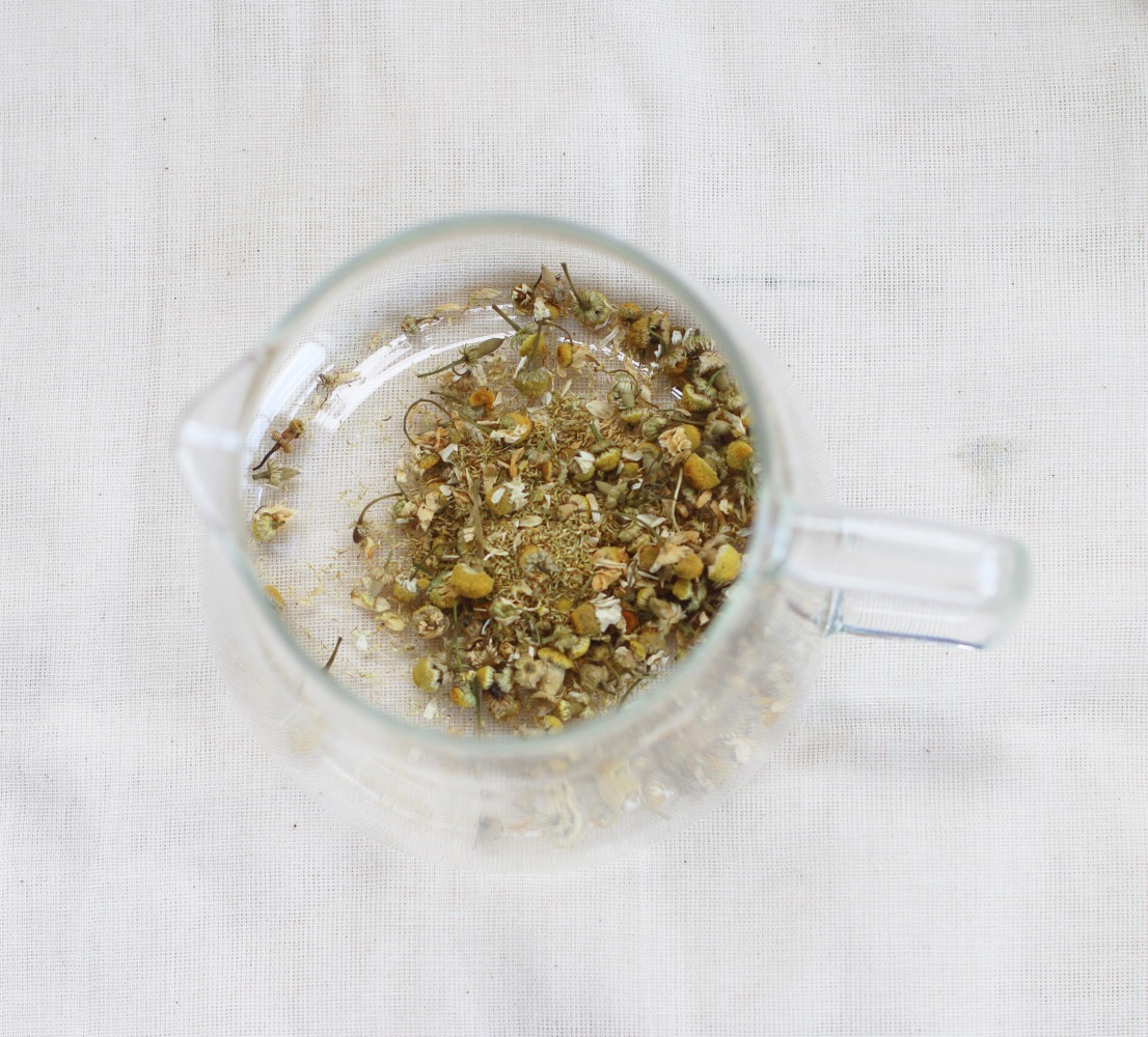 Enjoy a cup of organic herbal tea on arrival