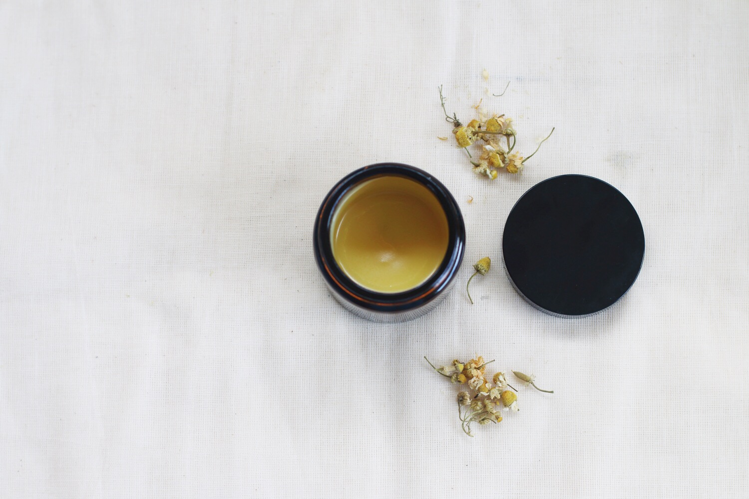 Handmade organic balms are used throughout treatments