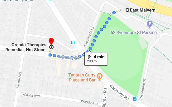 We are just around the corner from Malvern East station