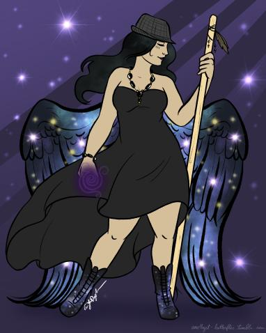 (Above depiction by Amethyst Butterflies)