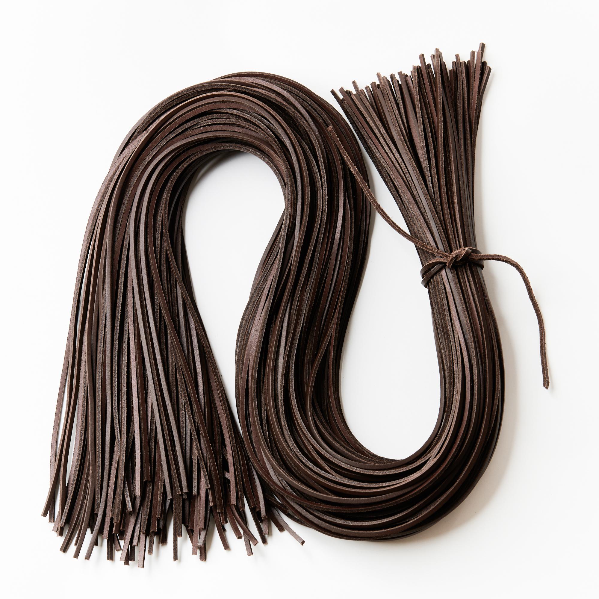 Lederriemen, Lederband Docksider für Schnürsenkel oder Halstuchknoten.