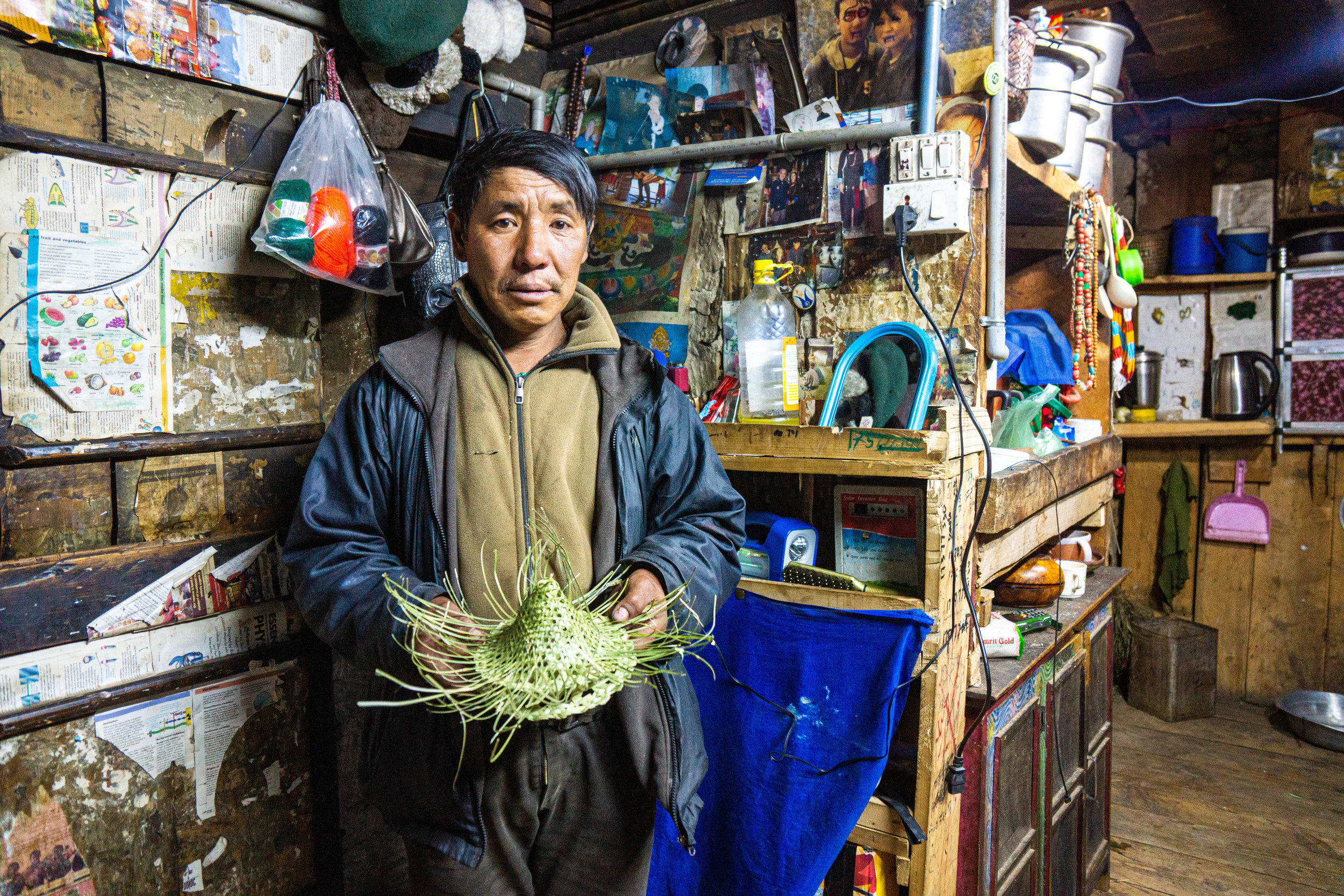 Tenzin is one of the last three conical hat makers
