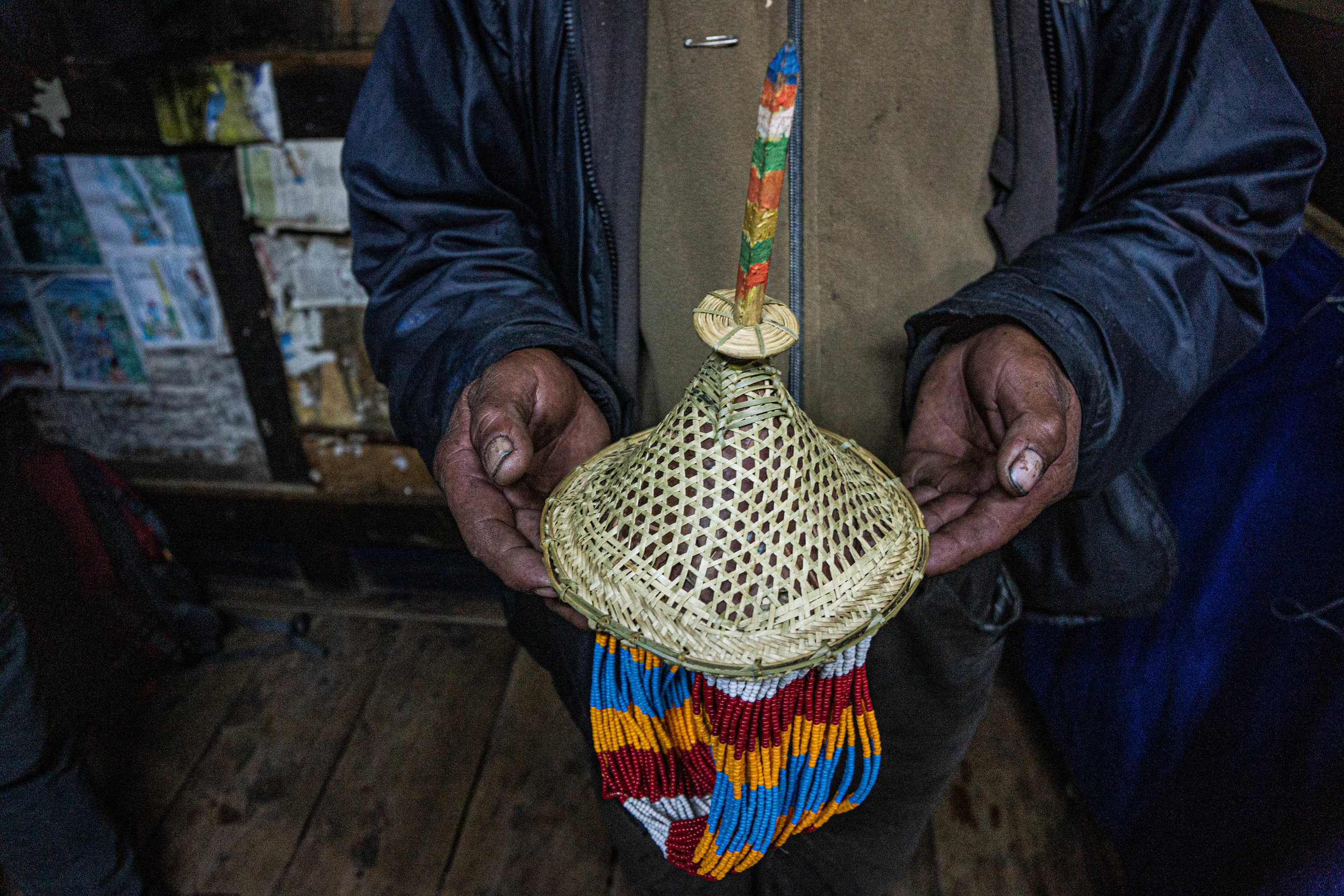 The final product of the traditional hat, belo