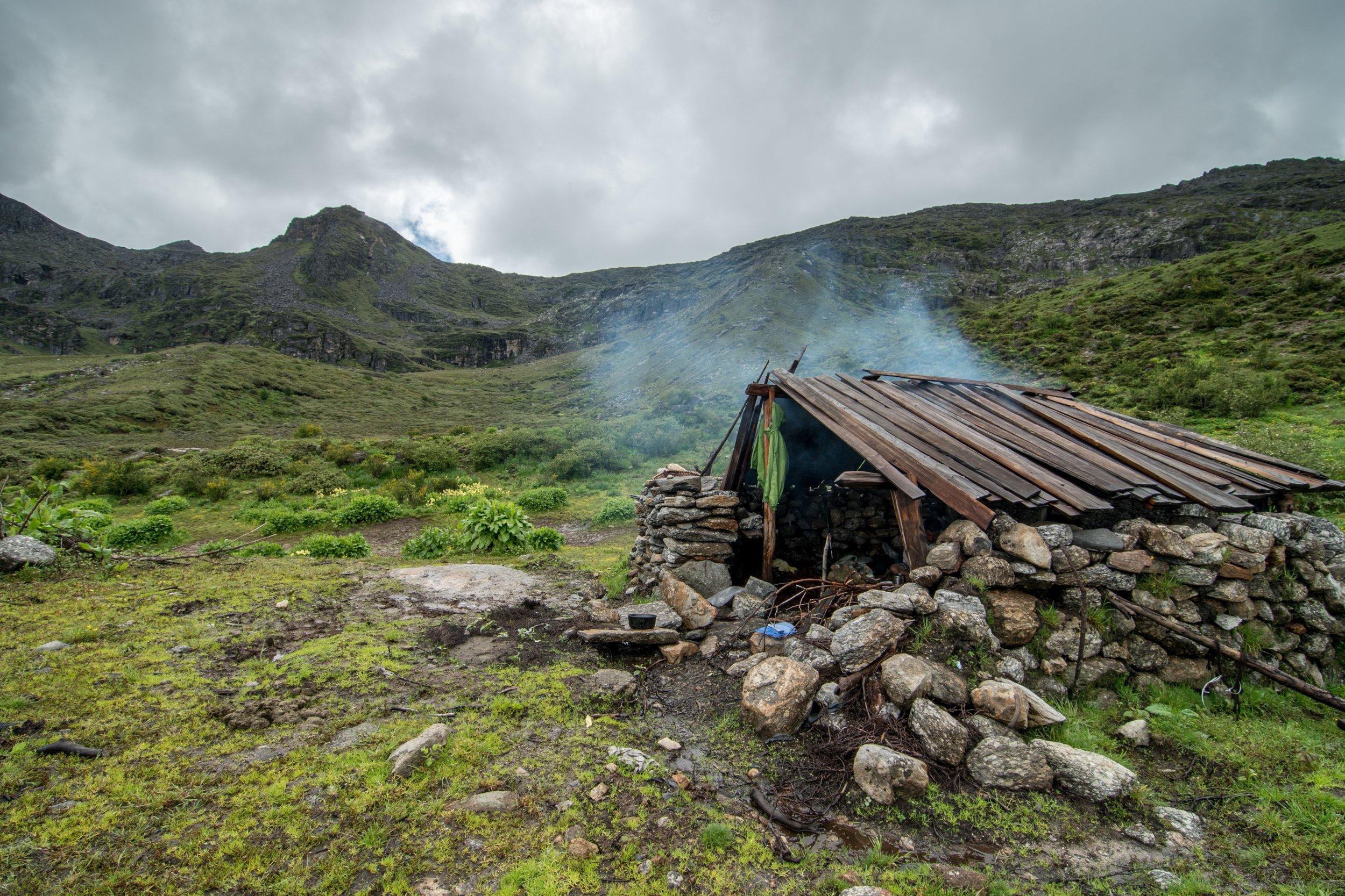 Yak herder's hut.