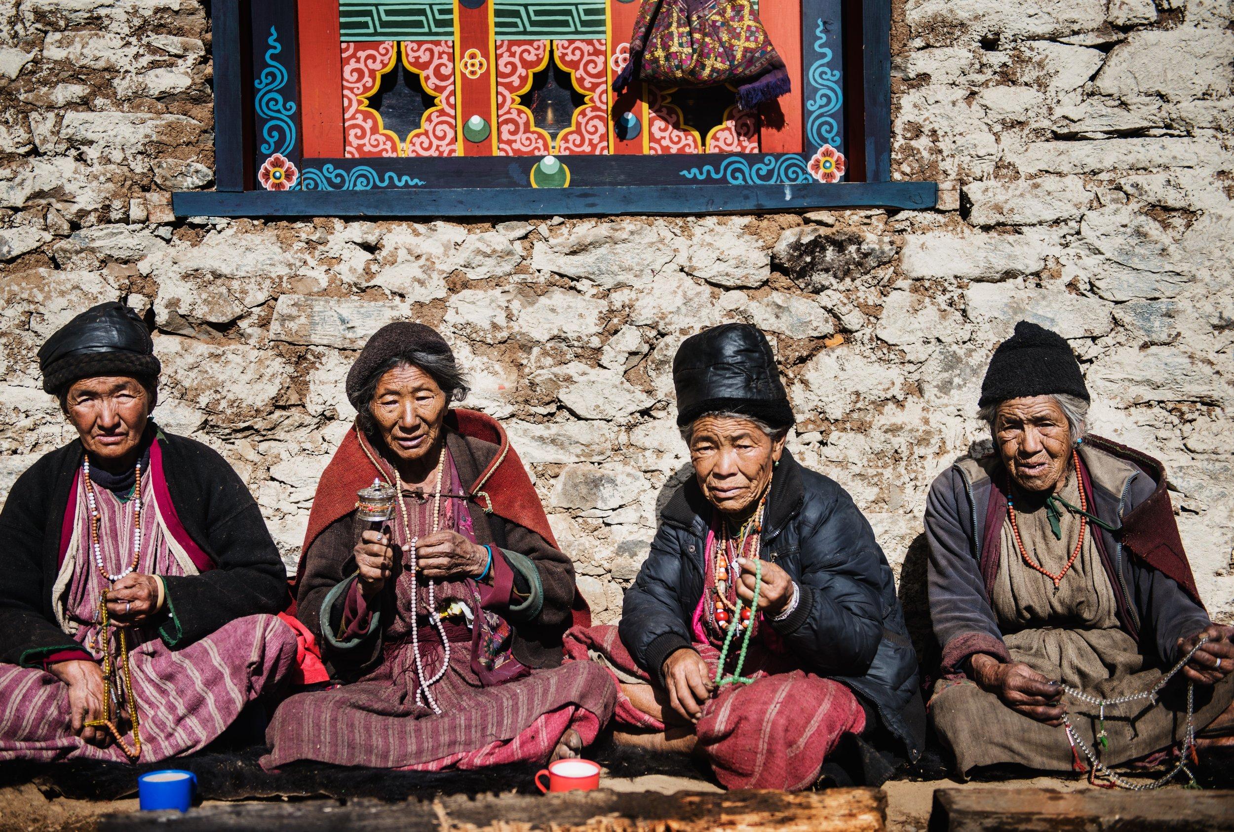 Village elders at Merak