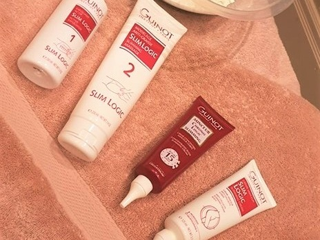"- ""Reduces the appearance of 'orange peel', leaving skin visibly firmer and more radiant."" - Guinot."