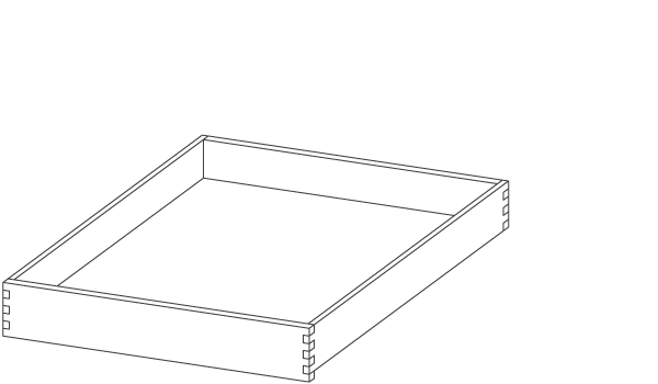 low wood drawer