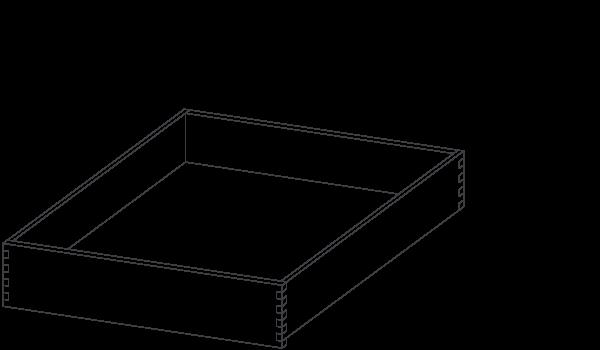 medium wood drawer