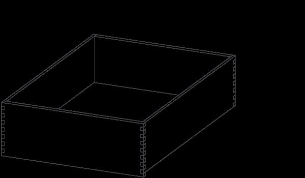 deep wood drawer
