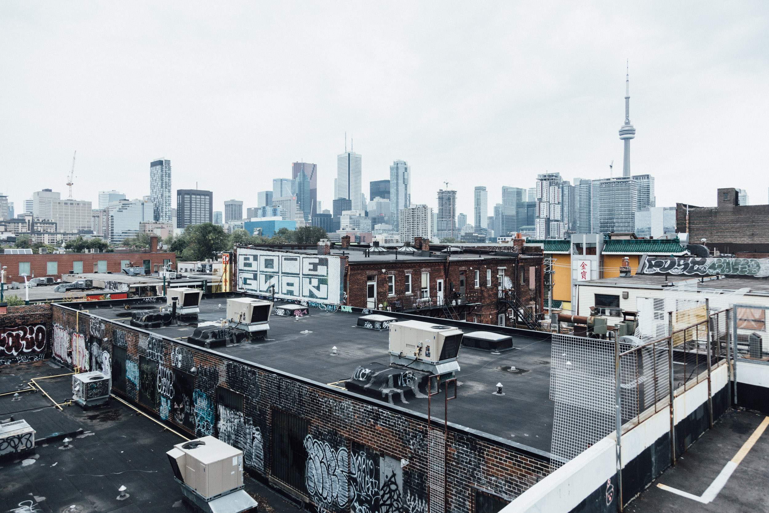 Photo of warehouses in Toronto's west end. Photo by Matt Quinn, courtesy of Unsplash