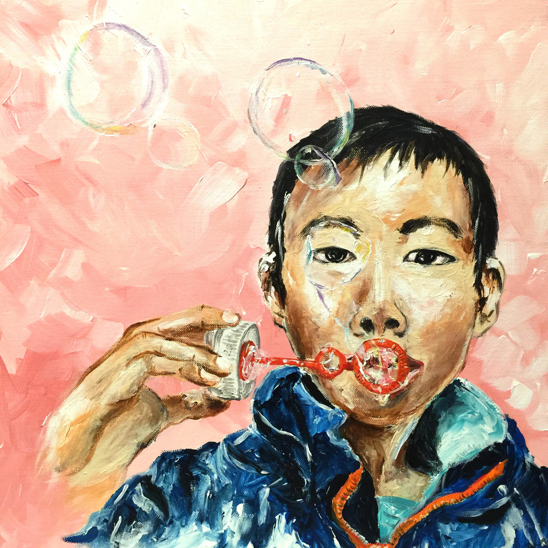 Bubble boy 2 (60x60)