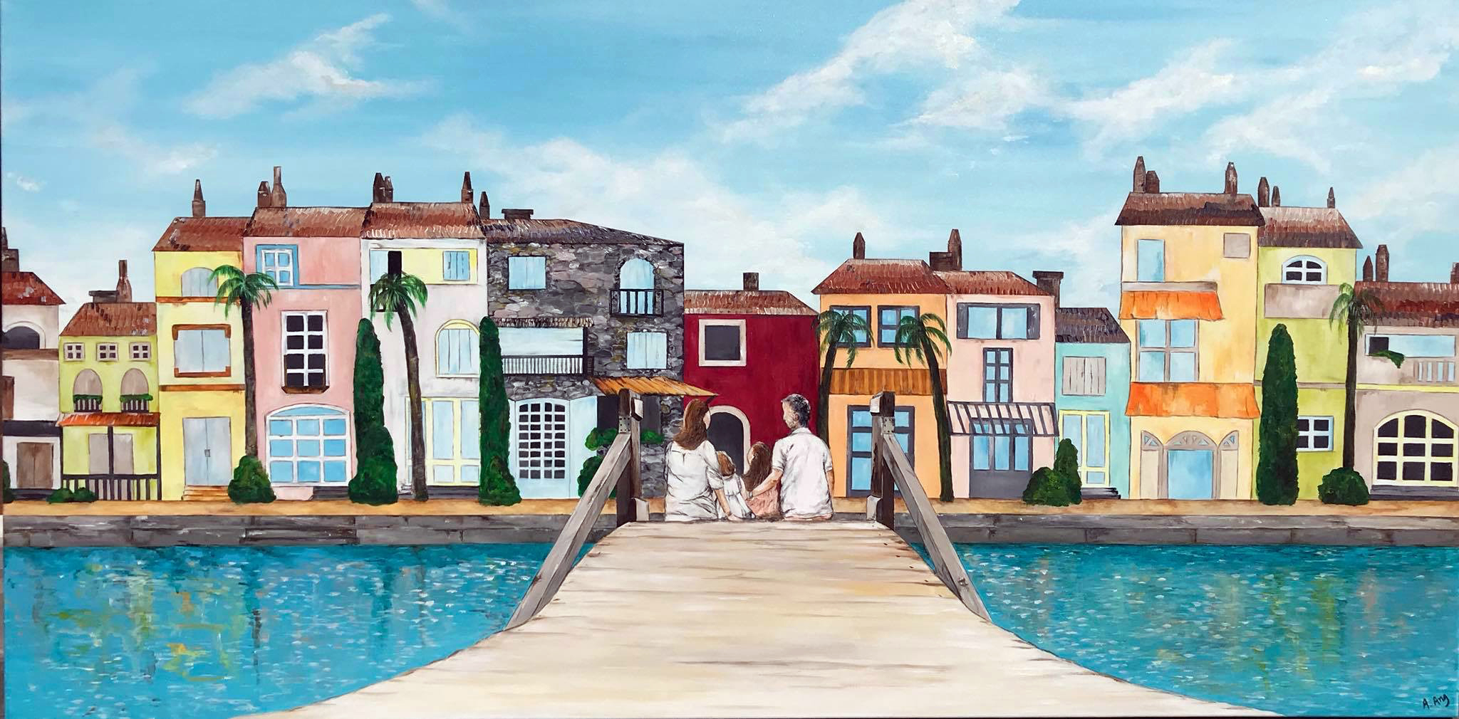 Memories at Port Grimaud, St Tropz (200x100) Commission