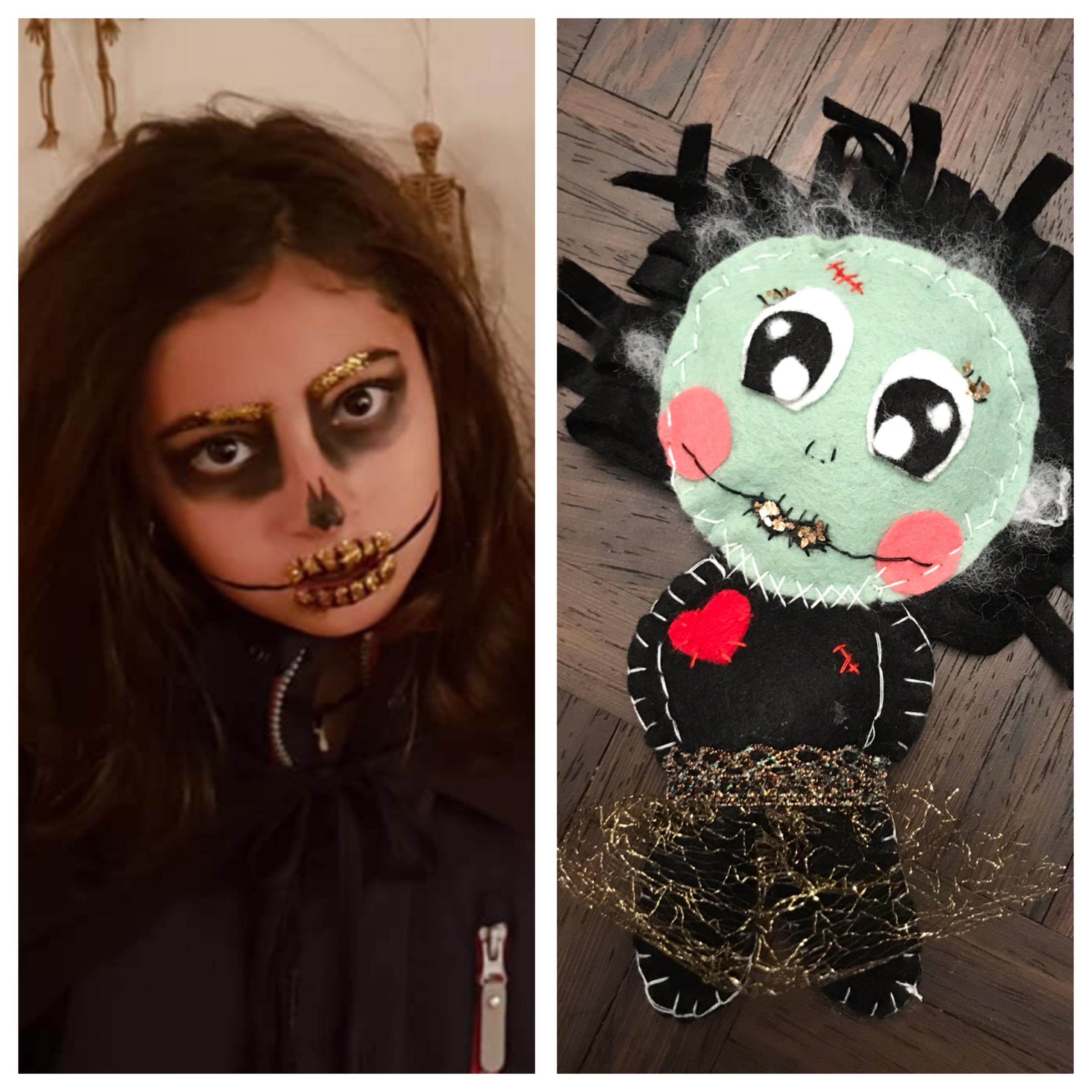 Monster girl for Halloween