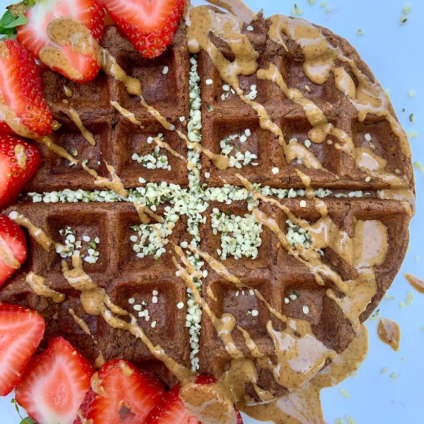 Chocolate Protein Waffle -
